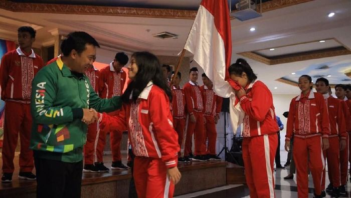 Menpora Lepas Kontingen Indonesia ke ASEAN School Games 2018 (Foto: Dok. Kemenpora)