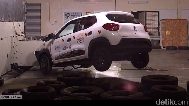 Crash test Renault Kwid. Foto: ASEAN NCAP