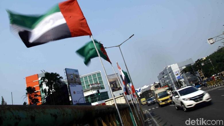 Ini Bendera Peserta Asian Games yang Diikat Bambu