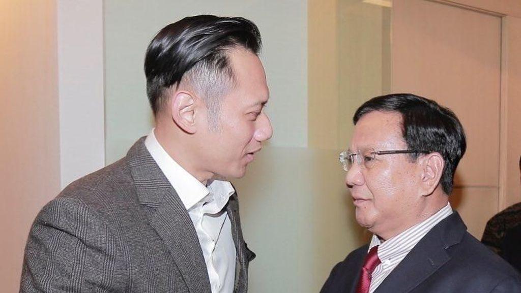 AHY ke Prabowo: Terima Kasih Telah Jenguk Pak SBY, Sehat Selalu
