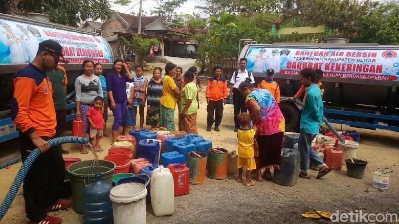 5 Kecamatan Terdampak Kekeringan, BPBD Blitar Suplai Air Bersih