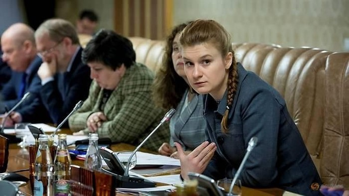 Mariia Butina (paling kanan) (Press Service of Civic Chamber of the Russian Federation/Handout via REUTERS)