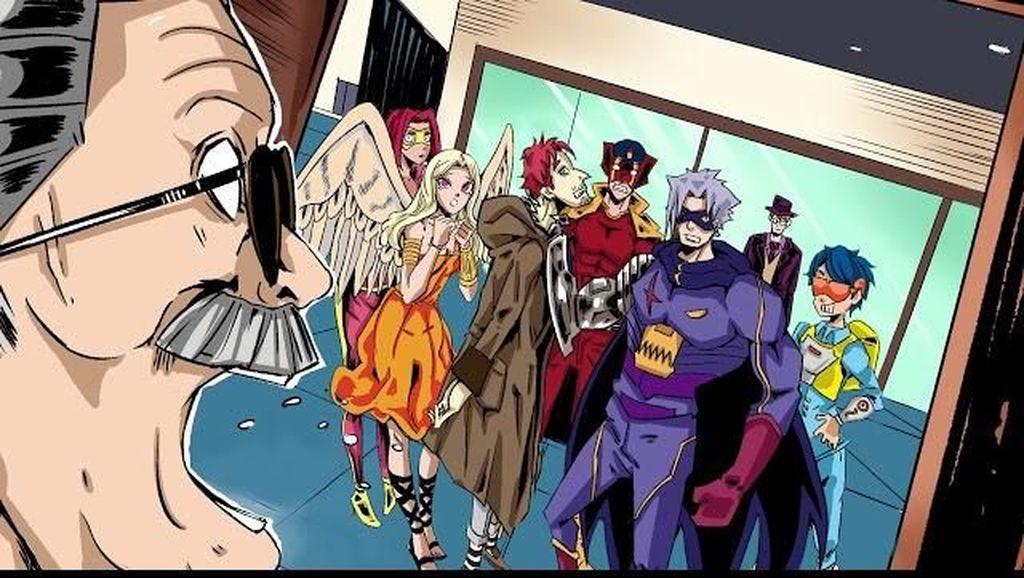 Ketika Stan Lee Hidup Bareng Tim Superhero di Komik Work Force