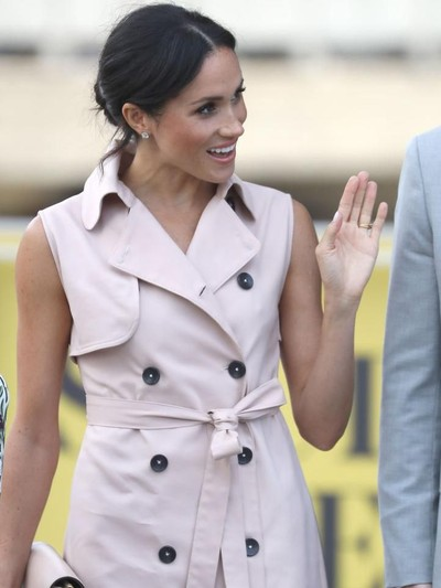 Duchess of Sussex Meghan Markle simpan jam tangan Cartier untuk putrinya di masa depan.Foto: Getty Images
