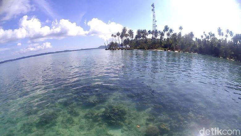 Pemandangan Pulau Lamun di Aceh Singkil (Agus/detikTravel)