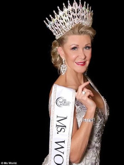 Robyn Canner, wanita 60 tahun pemenang Ms. World 2018. Foto: Ms World