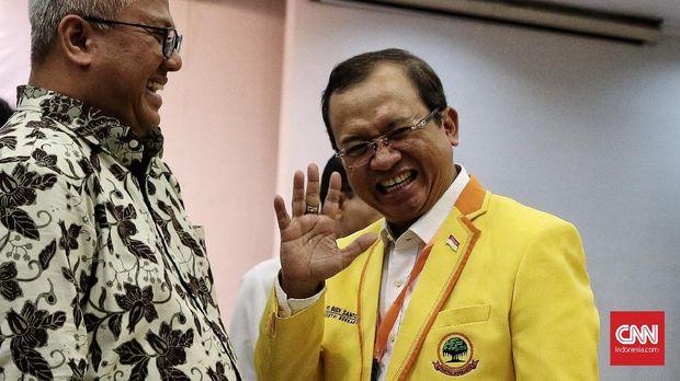 Sekjen Partai Berkarya Priyo Budi Santoso, di kantor KPU, Jakarta, 17 Juli.