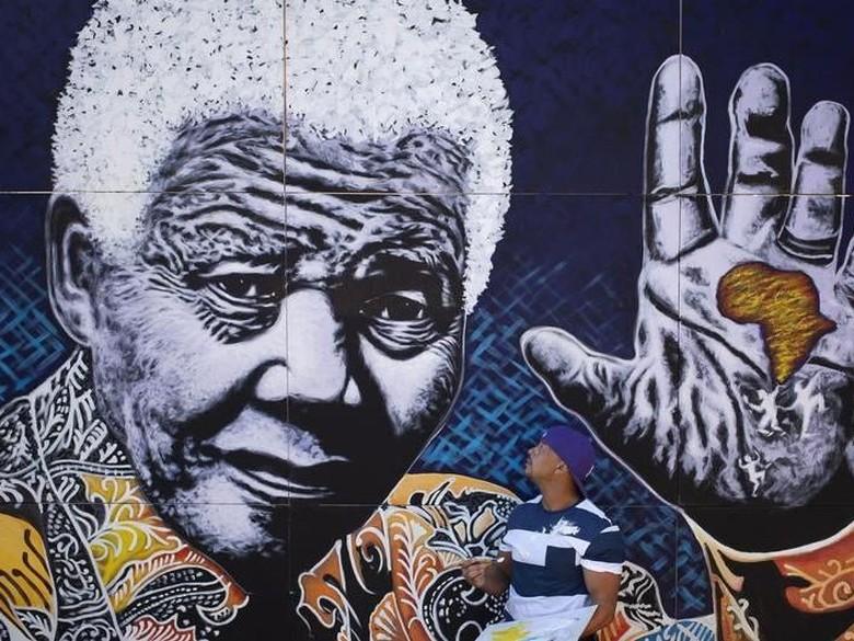 Sketsa Nelson Mandela saat Mendekam di Penjara Dilelang Rp 1,3 M