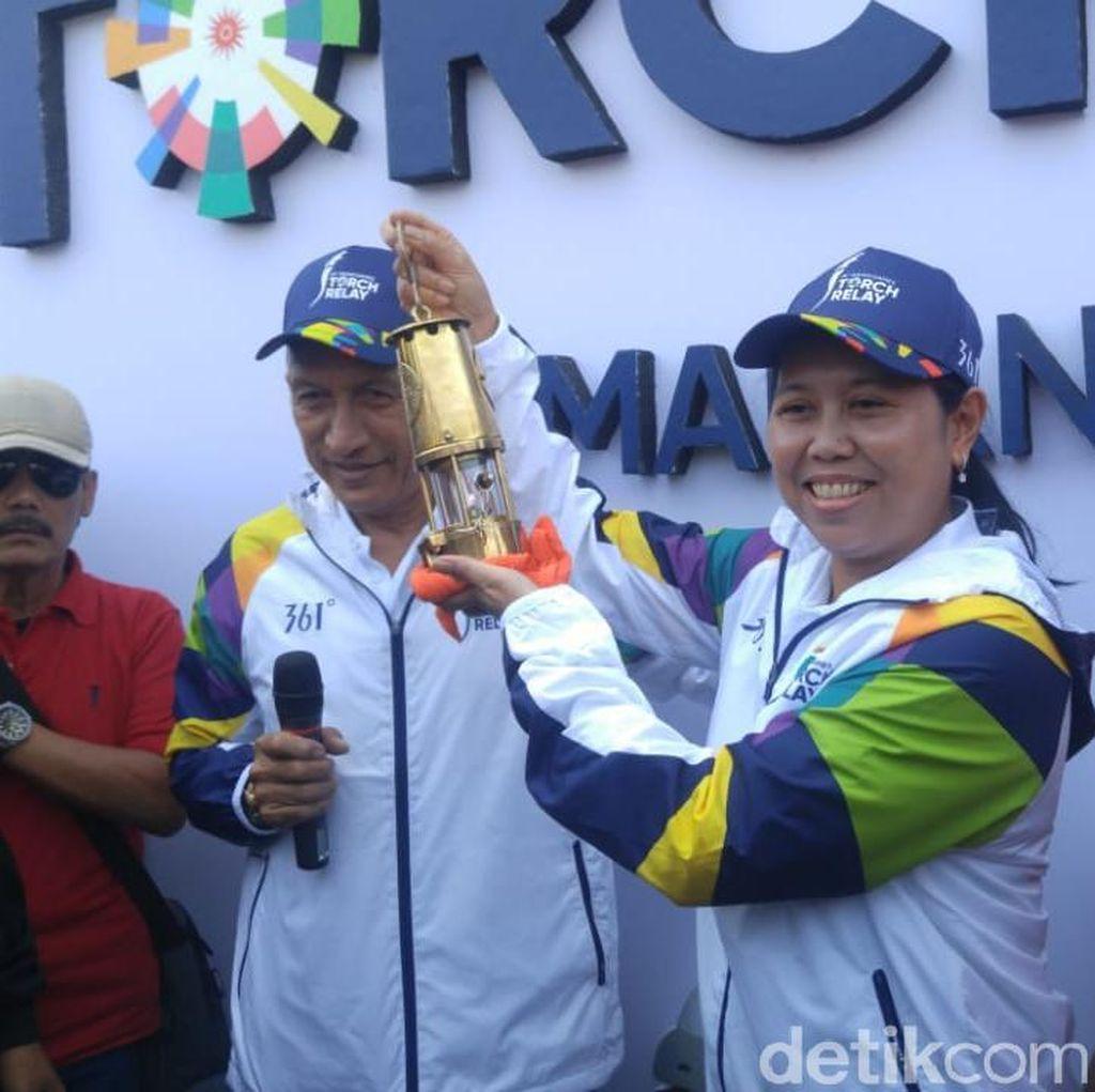 Meriahnya Saat Api Abadi Obor Asian Games Mampir di Kota Semarang