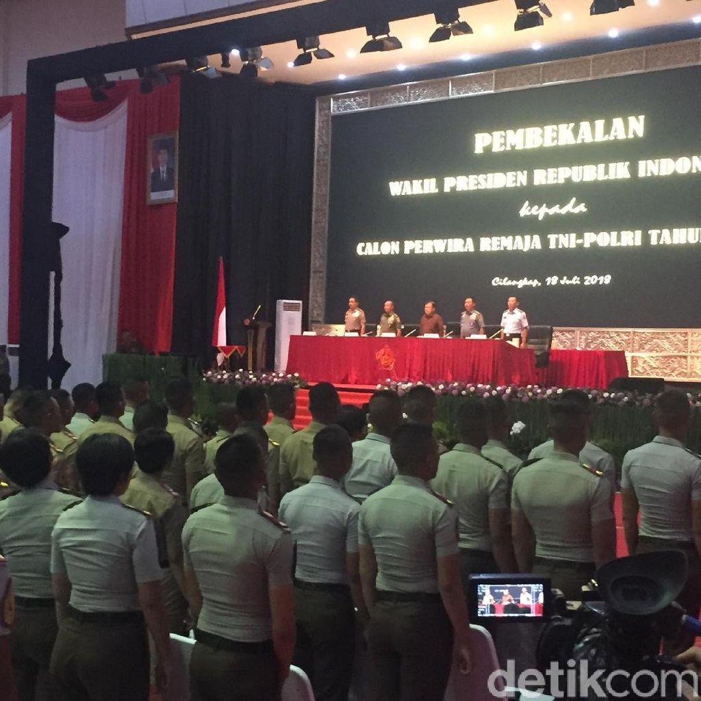 JK Beri Pembekalan ke 724 Capaja TNI-Polri di Cilangkap