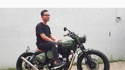 Ini Motor Modifikasi Baru Milik Putra Jokowi