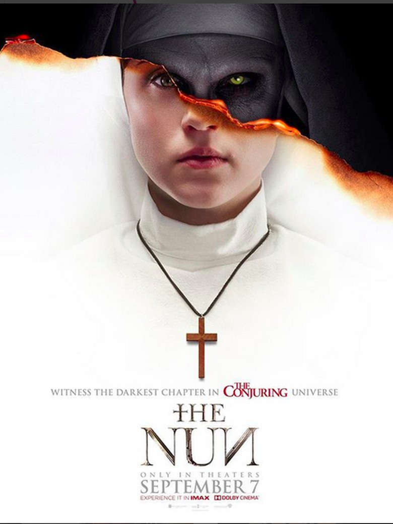 Hitam Putih nan Mengancam di Poster Terbaru The Nun