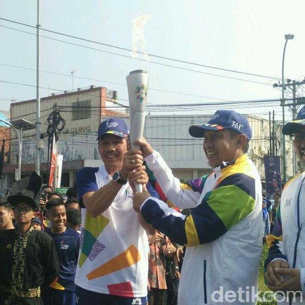 Usai Dikirab di Yogya, Api Obor Asian Games Dibawa Ke Solo
