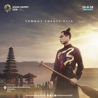 Karya Albert Yanuar di iklan kampanye Asian Games 2018.