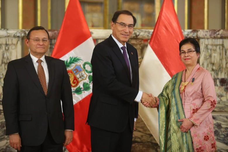 Dubes RI di Lima Serahkan Surat Kepercayaan pada Presiden Peru