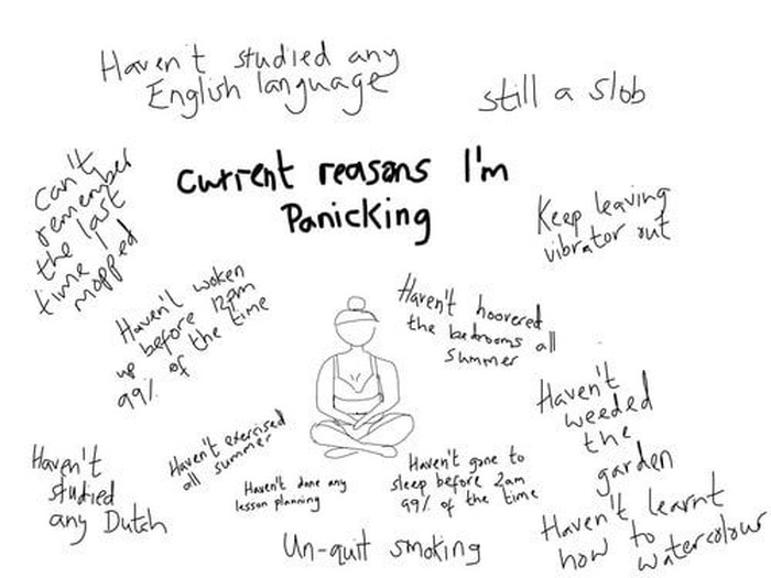 Serangan panik bisa datang karena masalah atau kritikan kecil yang menumpuk. (Foto: trixibelle/tumblr)