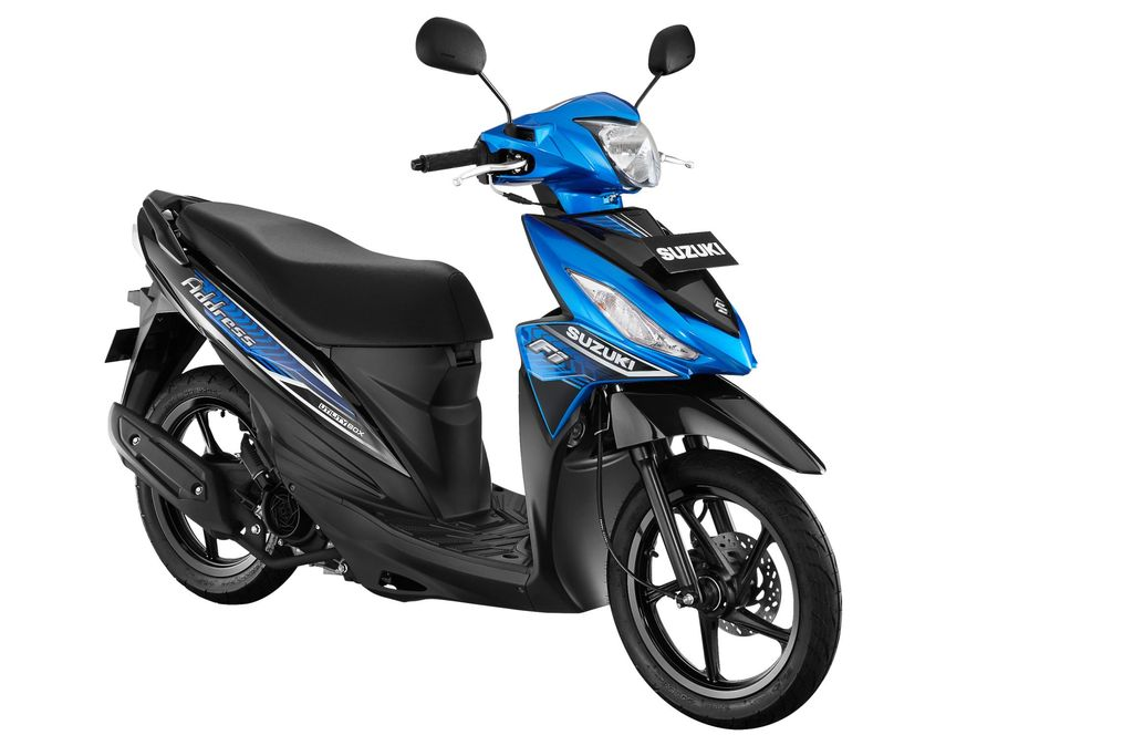 Suzuki Address FI mendapatkan sentuhan warna baruuntuk memenuhi selera pasar skutik serbaguna di Indonesia. Mengusung slogan 'BebasBerkendara, Dinamis Bergaya', Suzuki Address FI hadir dengan 4 pilihan warna baru yangdewasa dan tetap menarik untuk diandalkan sehari-hari.