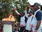 Jejak Perjalanan Obor Asian Games di Kota Yogya dan Solo