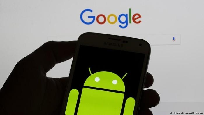 Logo Google dan Android. Foto: DW (News)