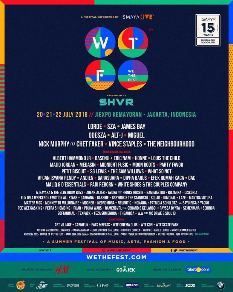 Siapa yang Paling Ditunggu di We The Fest 2018 Besok?