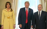 Ekspresi wajah Melania Trump setelah bersalaman dengan Putin.