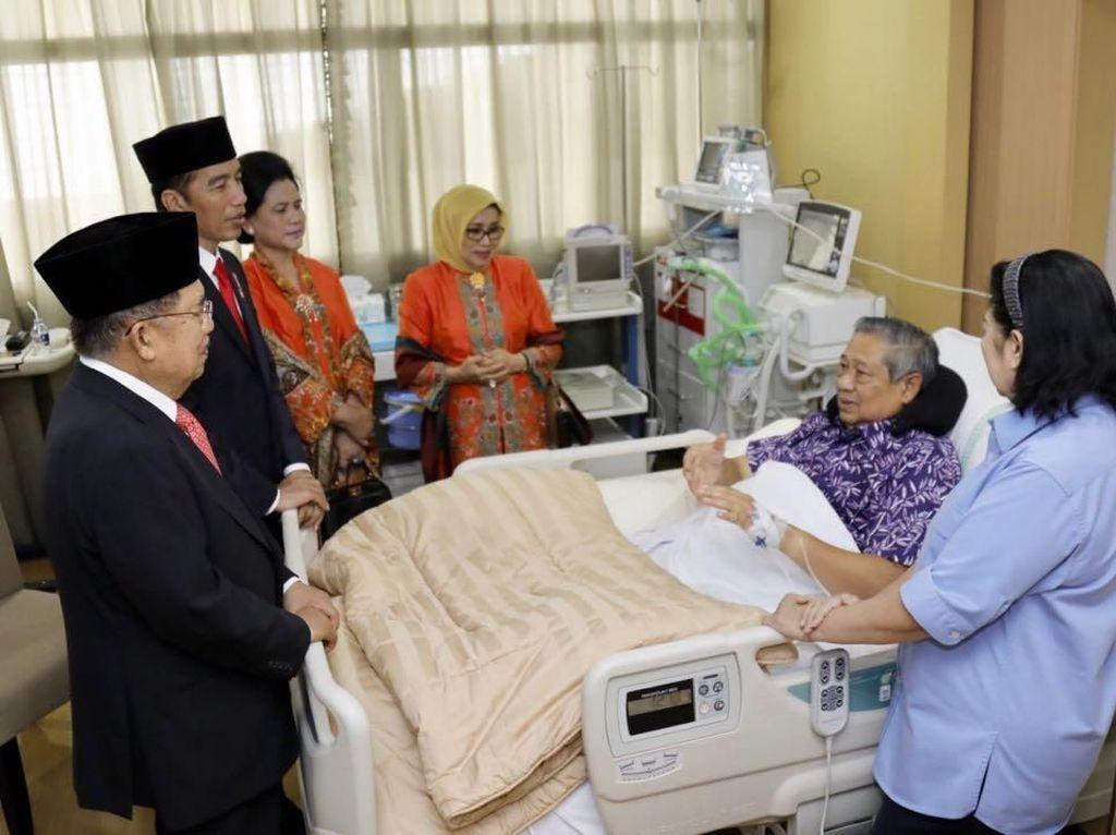 Jenguk SBY di RSPAD, Jokowi: Beliau Kecapekan