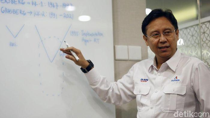 Foto: Dirut Inalum Budi Gunadi Sadikin/ Foti:Rachman Haryanto/detik.com