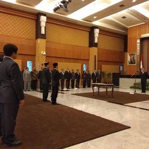 Thomas Lembong Lantik Dua Pejabat Eselon Satu di BKPM