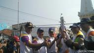 Kirab Obor Asian Games di Yogya Berakhir di Tugu Pal Putih