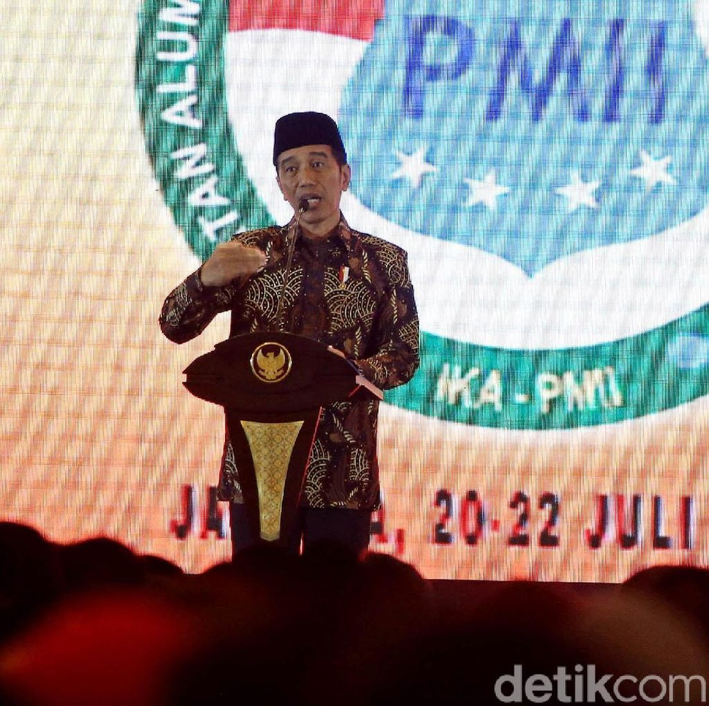 Jokowi: Masa Kita Terbelah Gara-gara Pilpres?