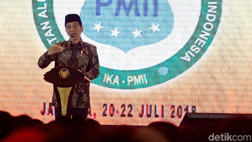 Presiden Jokowi Buka Munas VI IKA PMII