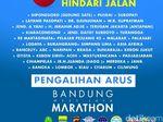 Ada Lomba Maraton, Hindari Jalan Ini Akhir Pekan di Bandung