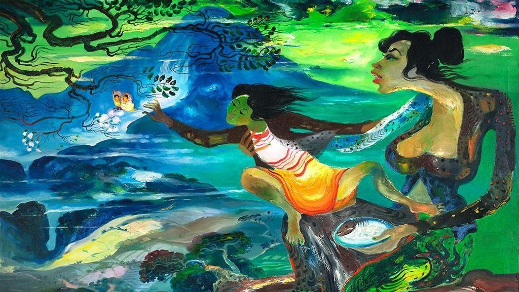 Ekspresi dan Komposisi Warna di Lukisan Hendra Gunawan Langka