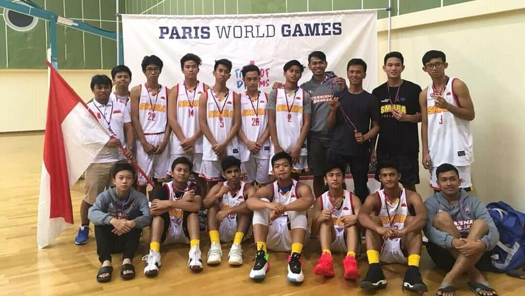 Tim Basket Pelajar Indonesia Bawa Pulang Piala dari Prancis