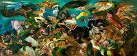 Ekspresi dan Kompisisi Warna di Lukisan Hendra Gunawan Langka