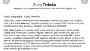 Viral Surat Terbuka Soal Penganiayaan, Kodam Diponegoro: Laporkan