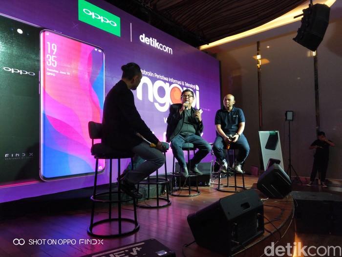 Talkshow Ngopi detikINET with Oppo. Foto: Lucki Aprilianto/detikcom