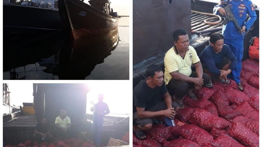 Kapal Penyelundup 4 Ton Bawang Merah Thailand Ditangkap di Aceh