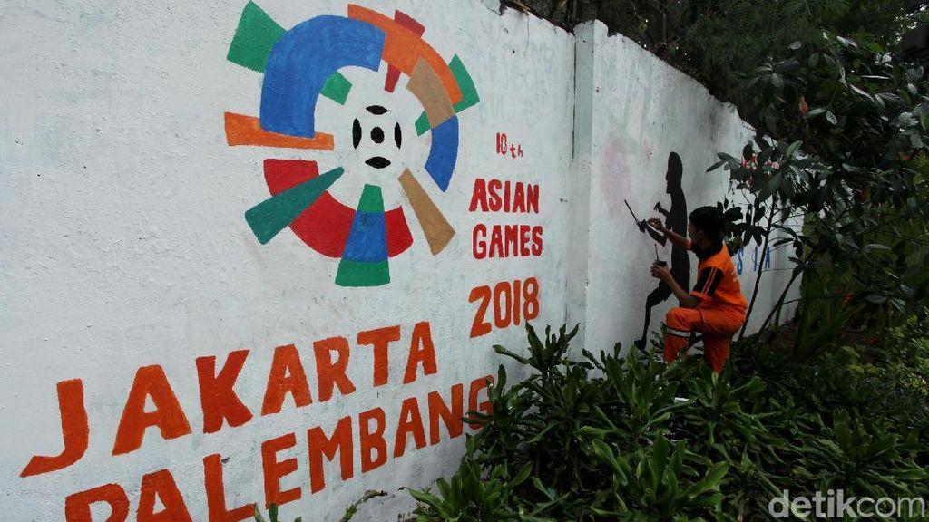 Giliran Lapangan Tembak yang Dihiasi Mural Asian Games