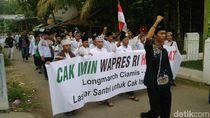 Santri Jalan Kaki Banjar-Jakarta Dukung Cak Imin Cawapres