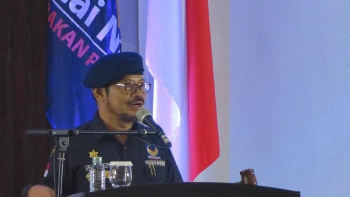 Syahrul Yasin Limpo dan Surya Paloh dalam acara Nasdem