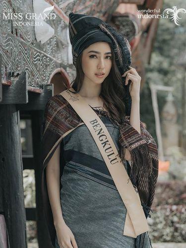 Nadia Purwoko asal Bengkulu menjadi pemenang Miss Grand Indonesia 2018.