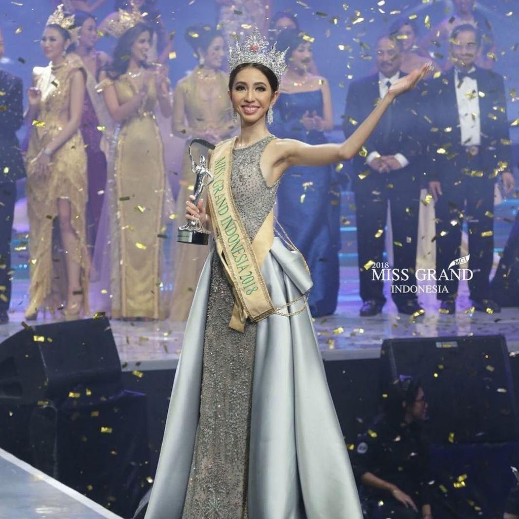 Nadia Purwoko dari Bengkulu Jadi Pemenang Miss Grand Indonesia 2018