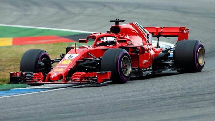 Sebastian Vettel start terdepan di GP Jerman 2018 (Ralph Orlowski/REUTERS)