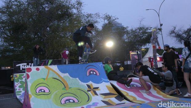 Serunya Skate Park di We The Fest 2018.