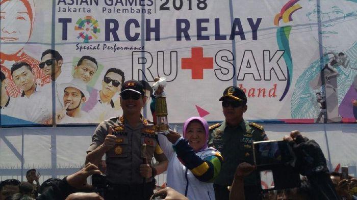 Api obor Asian Games 2018 singgah di Probolinggo (Foto: detikSport/M Rofiq)