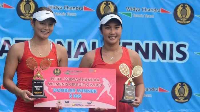Aldila Sutjiadi (kanan) menjadi andalan tenis putri di Asian Games 2018. (Dwi Ari Setyadi for detikSport)