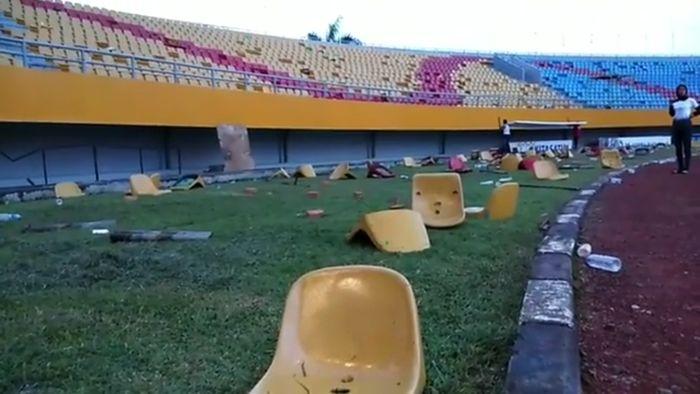 Padahal stadion yang berada dalam wilayah Jakabaring Sport City itu disiapkan untuk perhelatan Asian Games 2018 yang akan berlangsung 1 bulan lagi. Isitmewa/Instagram Jakabaring Sport City.