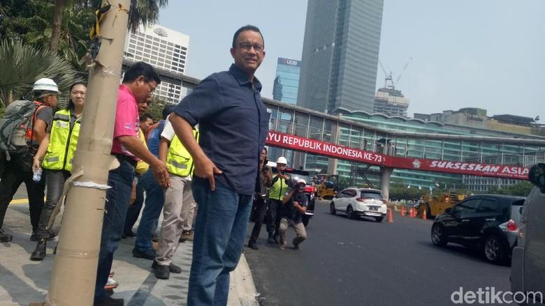 Asian Games Kurang dari Sebulan, Ini Penampakan Trotoar di Thamrin