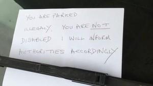 Kena Semprot Parkir di Tempat Khusus Disabilitas, Gadis Ini Ungkap Alasannya